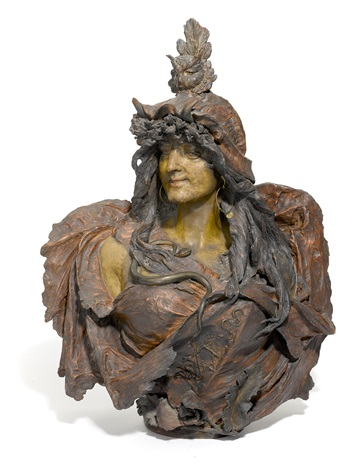 bust of sarah bernhardt as athena by amphora werke reissner