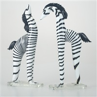 zebras (pair) by rosanna toso