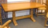 refectory table and elbow chairs (5 works) by colin almack