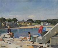 beach scene by joseph newman