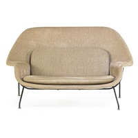 womb settee by eero saarinen