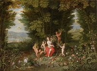 allegory of the earth by ferdinand van kessel