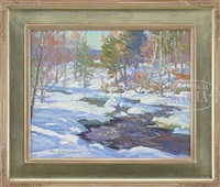 stream in winter by michael graves