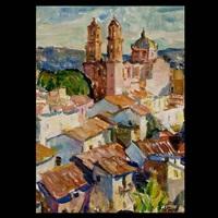 view of santa prisca church, taxco, mexico by e.charlton fortune
