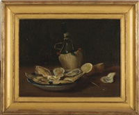still-life w/ oysters by alfred everett smith