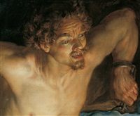 der an den felsen gefesselte prometheus by jacques de l'ange