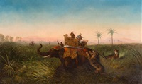 the tiger hunt by colonial school (18)
