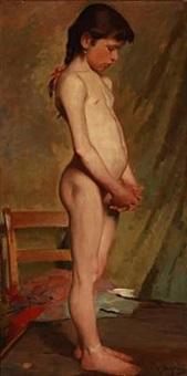 a little girl as a model by hermann behrens