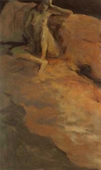 sitzender weiblicher akt by martin ziegelmüller