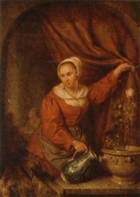 watering the rose by elisabeth alida van haanen
