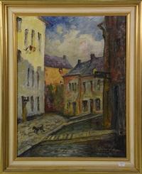 la rue des tanneurs à namur by albert dandoy
