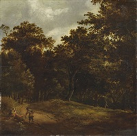 landschaft mit rastenden figuren by salomon rombouts