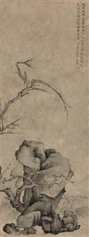 梅竹石图 by xiao yuncong