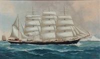 the schleswig-holstein full-rigged sailing ship eilbek by john henry mohrmann