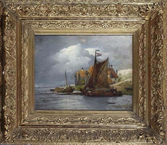 holländskt kustlandskap by andreas achenbach
