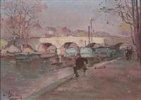 along the seine, paris by louis battin