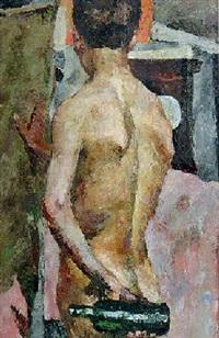nude with a bottle by dementy alekseevich shmarinov