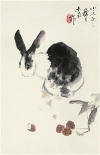花兔图 (rabbit) by liu nan