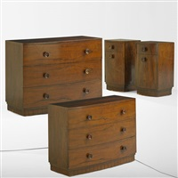 bedroom suite: dressers (no. 3770) (pair) by gilbert rohde