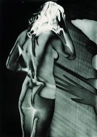 weiblicher rückenakt (solarisation) by heinrich heidersberger