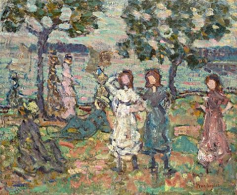 park along the shore by maurice brazil prendergast