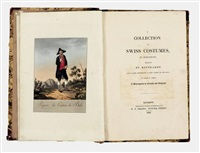 a collection of swiss costumes in miniature (bk w/ 30 works & text, folio) by joseph reinhart