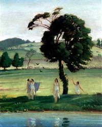 spring maidens by blendon reed campbell