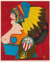 miss american indian by richard lindner
