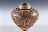 hopi polychrome seed jar by fannie nampeyo