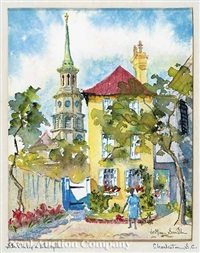 st. philip's steeple, charleston, sc by edith demay smith