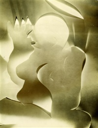 weibliche figur (abstraktion aus papierschnitten) by francis joseph bruguiere