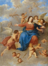 the virgin surrounded by angels by johan van haensbergen