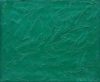 ohne titel (monochromes grün) by peter krüger