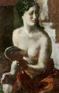 nude with red drapery by vasili nikolaevich yakovlev