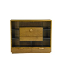 cabinet with drop-down secretary desk (no. 4100) by gilbert rohde