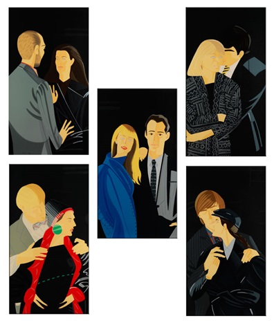 pas de deux suite of 5 by alex katz