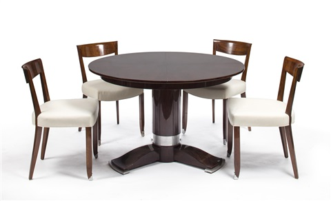 Dining Table And Ten Chairs Set Of By Jules Leleu On Artnet - Dining table for ten