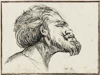 head of a bearded man by domingos antonio de sequeira
