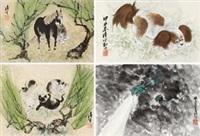 动物 (album of 8, various sizes) by liu bin