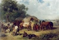 rast eines provianttransportes des östereichischen heeres im krieg 1859 by franz adam
