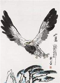 松鹰图 by liu wenxi