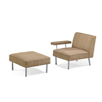 lounge chair and ottoman by george nelson