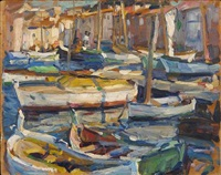 st. tropez harbour by e.charlton fortune