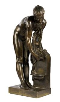 jeune fille à la fontaine by alexandre schoenewerk