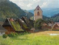 kirchdorf im süddeutschen by franz kortejohann