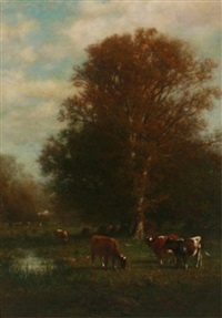 cows in pasture by james mcdougal hart