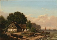 coastal scene at taarbæk, denmark by ellen margrethe jensen