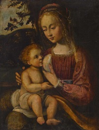 maria lactans by bernardino luini