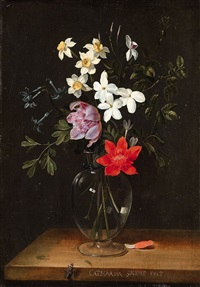 a floral still life by catharina ijkens