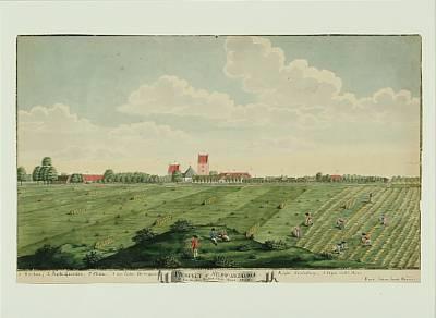 prospect af store heddinge at see fra den westre siide anno 1753 by johann jacob bruun